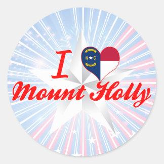 I Love Mount Holly, North Carolina Round Sticker