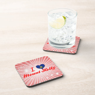 I Love Mount Holly Vermont Beverage Coasters