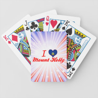 I Love Mount Holly Vermont Poker Cards