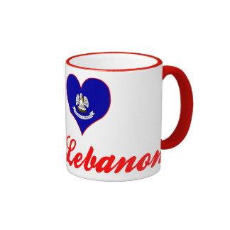 I Love Mount Lebanon, Louisiana Ringer Coffee Mug