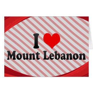 I Love Mount Lebanon, United States Cards
