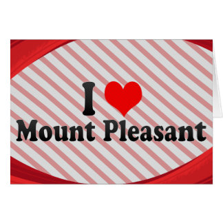 I Love Mount Pleasant, United States Cards