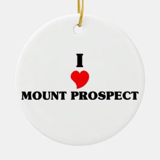 I love Mount Prospect Christmas Ornament