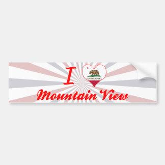 I Love Mountain View California Bumper Stickers