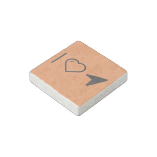 I Love Mouse Arrow Stone Magnet