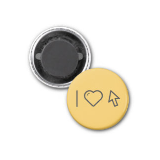 I Love Mouse Click 3 Cm Round Magnet