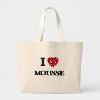 I Love Mousse Large Tote Bag