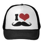 I Love Moustache Cap