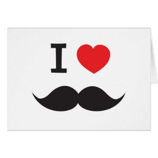 I Love Moustache Card