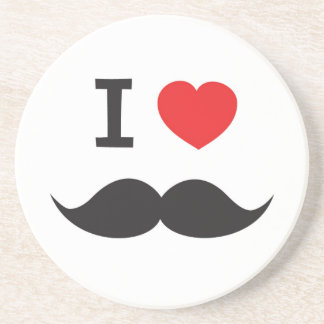 I Love Moustache Coaster