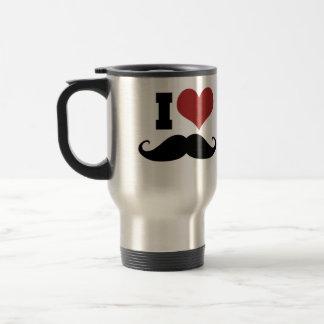 I Love Moustache Coffee Mug