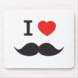 I Love Moustache Mouse Pad