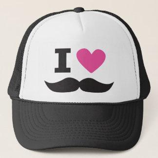 I Love Moustache - pink Trucker Hat