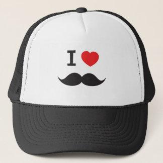 I Love Moustache Trucker Hat
