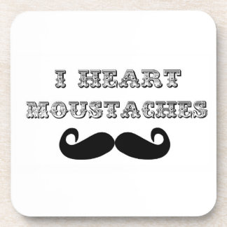 I Love Moustaches Coaster Set