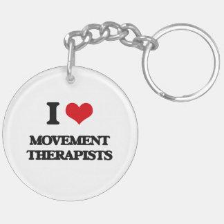 I love Movement Therapists Acrylic Key Chains