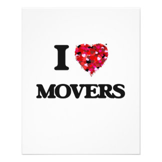 I Love Movers 11.5 Cm X 14 Cm Flyer