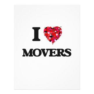 I Love Movers 21.5 Cm X 28 Cm Flyer