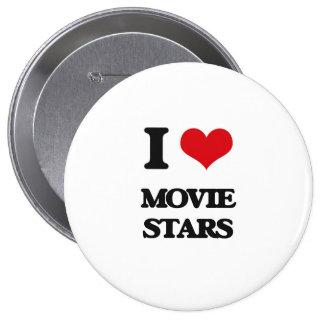 I Love Movie Stars 10 Cm Round Badge