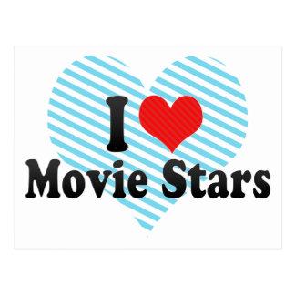 I Love Movie Stars Postcards