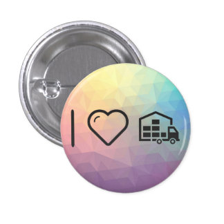 I Love Movings 3 Cm Round Badge