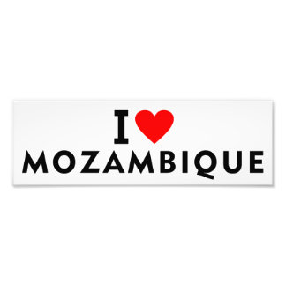 I love Mozambique country like heart travel touris Photo Print