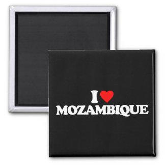 I LOVE MOZAMBIQUE SQUARE MAGNET