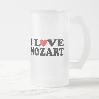 I Love Mozart Frosted Glass Beer Mug