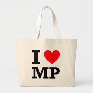 I Love MP Design Jumbo Tote Bag