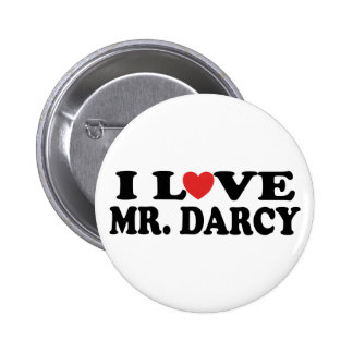 I Love Mr. Darcy Buttons