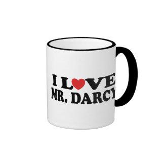 I Love Mr. Darcy Ringer Mug