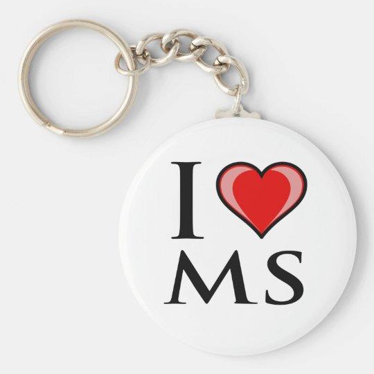 I Love MS - Mississippi Basic Round Button