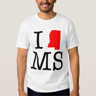 I Love MS Mississippi T-Shirt