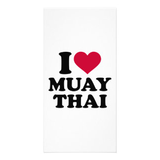 I love Muay Thai Personalised Photo Card