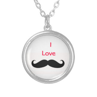 I love muctache necklace