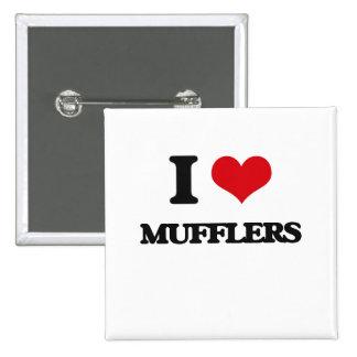 I Love Mufflers 15 Cm Square Badge