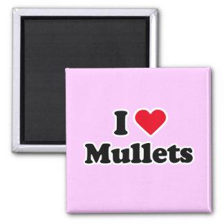 I love mullets fridge magnet