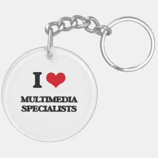 I love Multimedia Specialists Key Chains