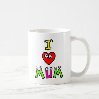 I Love Mum Basic White Mug