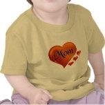 "I love Mum Hearts with word ""Mum"" T-shirts"