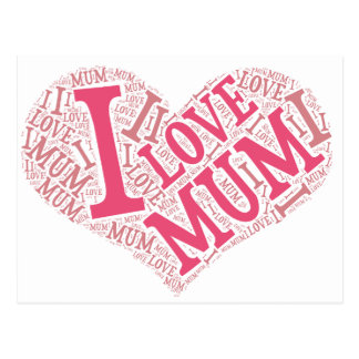I love Mum Postcard Horizontal