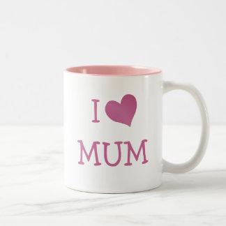 I Love Mum Two-Tone Mug