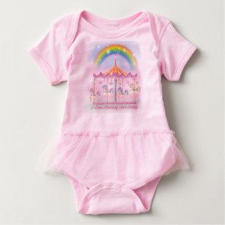 I love Mummy And Daddy Baby Tutu Bodysuit, Pink Baby Bodysuit