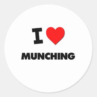 I Love Munching Stickers