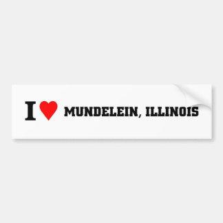 I love Mundelein, Illinois Bumper Sticker