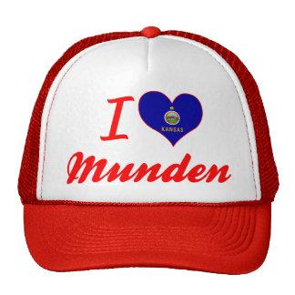 I Love Munden, Kansas Mesh Hat