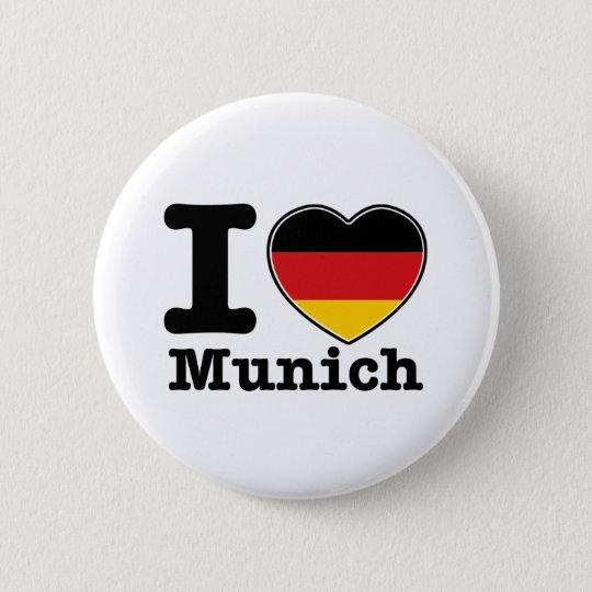 I love Munich 6 Cm Round Badge
