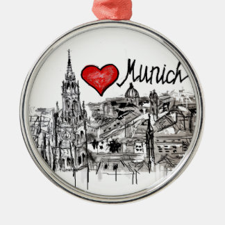 I love Munich Christmas Ornament