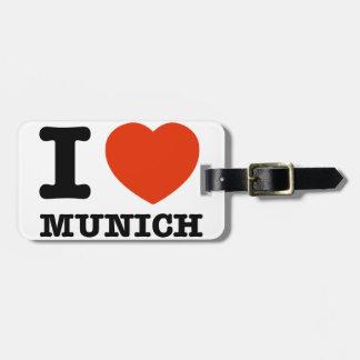 I Love Munich Luggage Tag