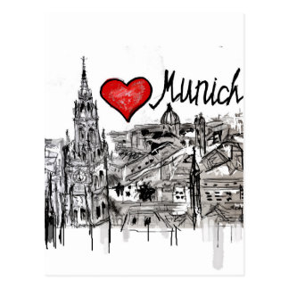 I love Munich Postcard